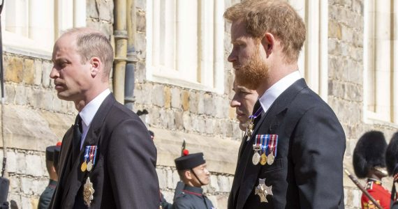 Así fue el esperado encuentro público de William y Harry en el funeral del duque de Edimburgo