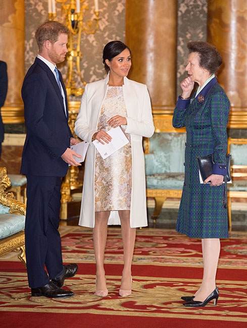 Harry, Meghan y princesa Ana