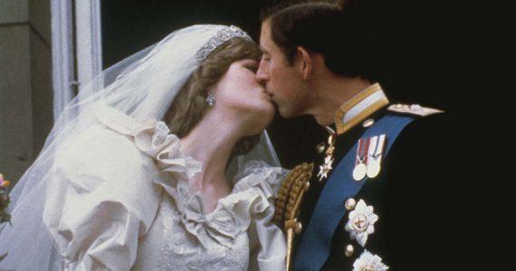 diana y carlos beso boda