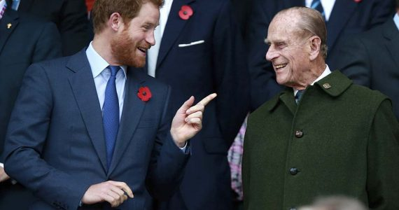 felipe de edimburgo y el príncipe harry