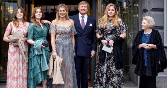maxima de holanda celebra 50 años con concierto musical en familia
