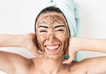 exfoliantes de piel cuidados de la piel cara café