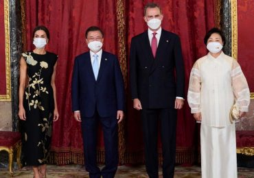 reyes de españa visita presidente de corea