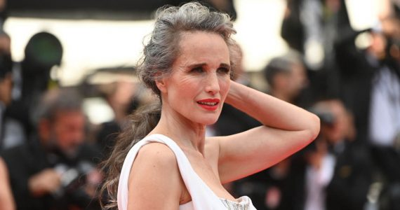 andie macdowell cabello gris canas