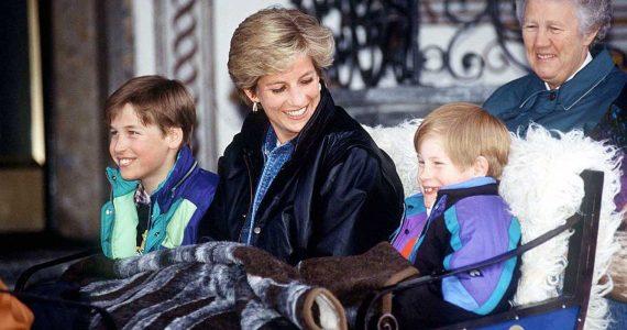 lado maternal fotos de princesa diana de mamá con harry y william