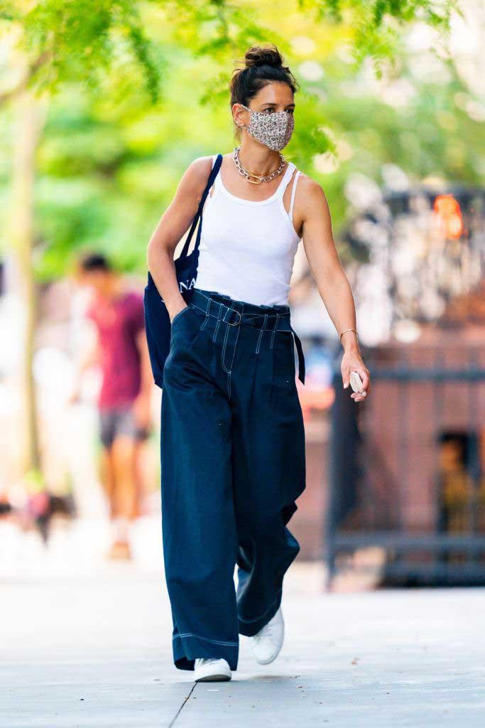 katie holmes moda oversize
