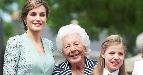Fallece la abuela de la reina Letizia y la única bisabuela viva de Leonor, Menchu Álvarez del Valle, a los 93
