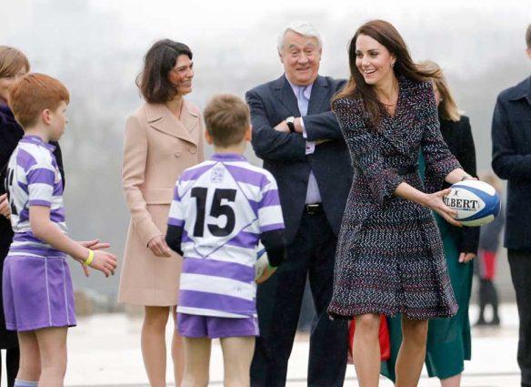 kate middleton rugby patronaje príncipe harry
